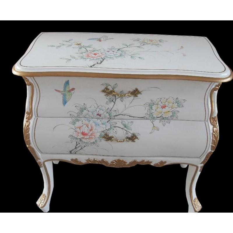 commode chinoise laqu e blanche meuble chinois laqu. Black Bedroom Furniture Sets. Home Design Ideas