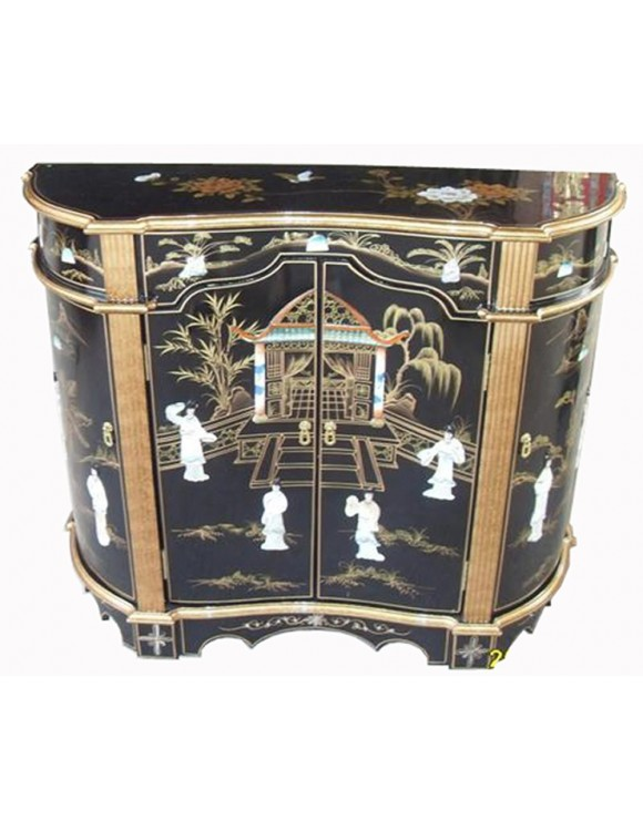 Buffet chinois laqu more dor meuble chinois laqu for Meuble buffet chinois
