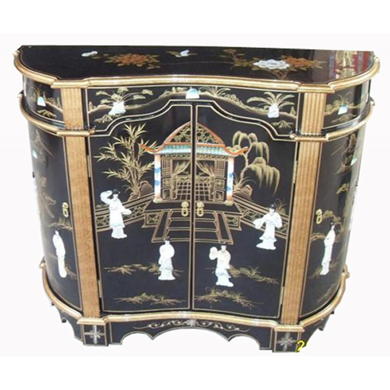 Buffet Chinois Laque More Dore Meuble Chinois Laque
