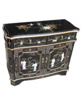 buffet chinois laqu teint more dor incrust nacre meuble chinois laqu. Black Bedroom Furniture Sets. Home Design Ideas