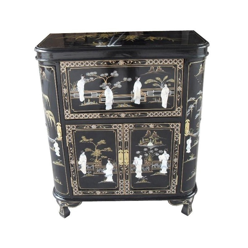 bar chinois noir laqu meuble chinois laqu. Black Bedroom Furniture Sets. Home Design Ideas