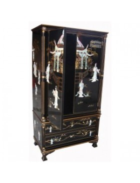 armoire chinoise laqu e de mariage meuble chinois laqu. Black Bedroom Furniture Sets. Home Design Ideas