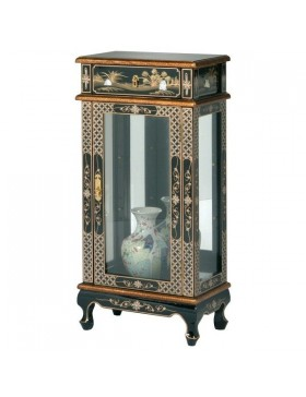 vitrine argentier laqu e chinoise meuble chinois laqu. Black Bedroom Furniture Sets. Home Design Ideas