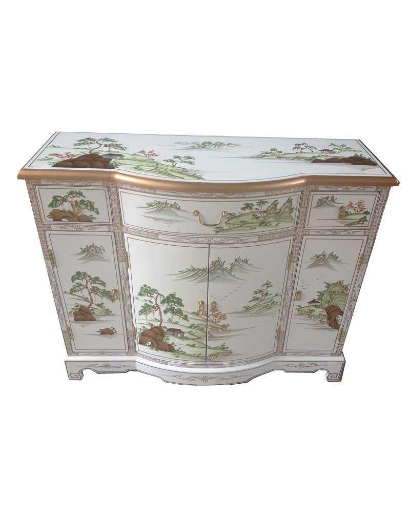Meuble d 39 entr e tib tain du lac manasarovar meuble tib tain for Meuble tibetain