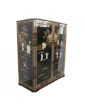 Armoire penderie chinoise - meuble chinois laqués