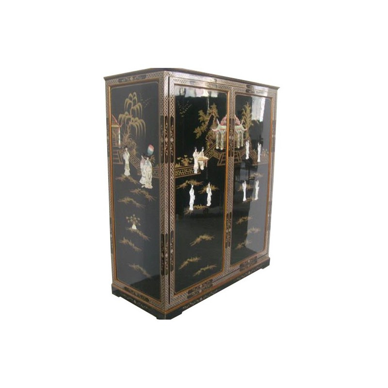 armoire penderie chinoise meuble chinois laqu s. Black Bedroom Furniture Sets. Home Design Ideas