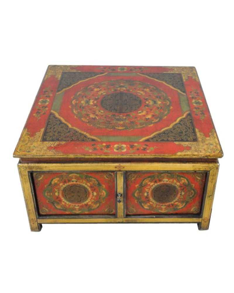 Miroir chinois laqu vertical grand mod le for Miroir vertical