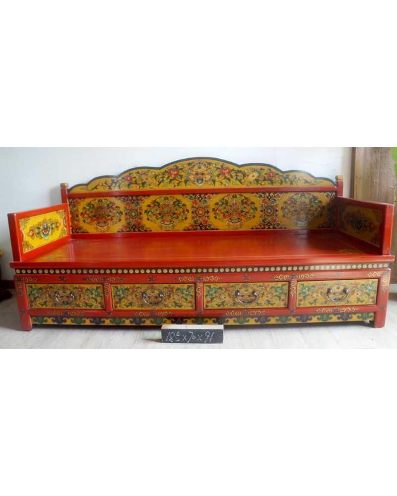 Miroir chinois laqu vertical rectangulaire for Miroir vertical