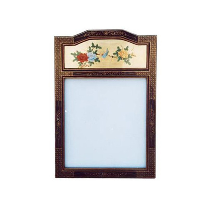 Miroir chinois laqu vertical rectangulaire for Miroir vertical