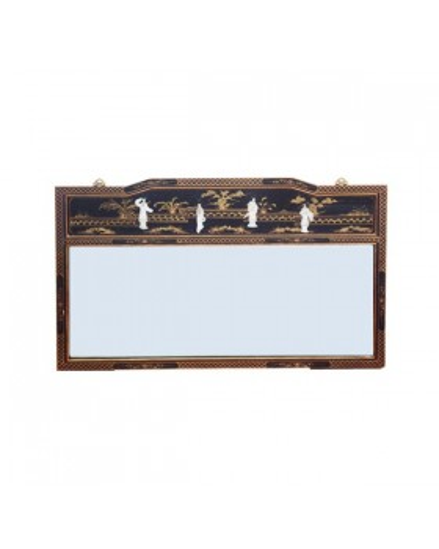 Miroir chinois laqué horizontal rectangulaire