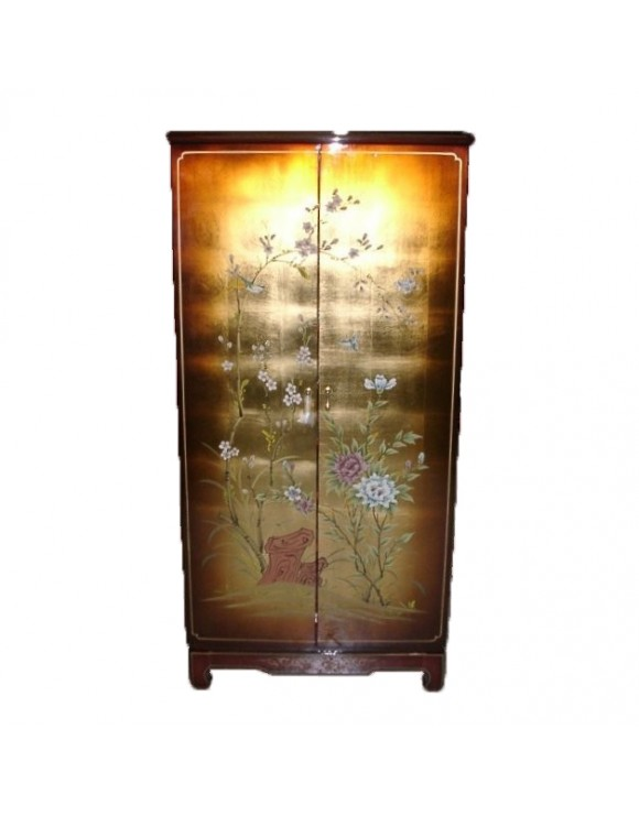 Armoire chinoise laquée - meuble chinois laqué