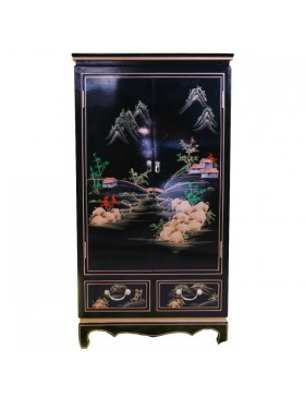 Armoire laquée chinoise - meuble chinois laqué