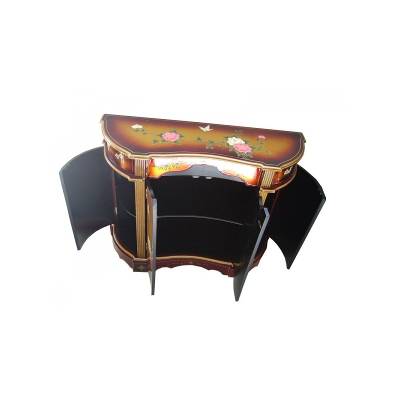 Buffet chinois laqu more dor meuble chinois laqu for Meuble chinois laque