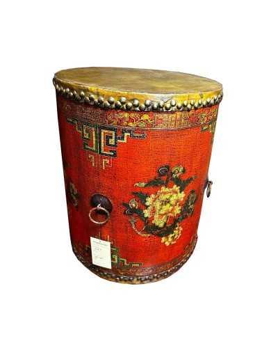 Bibliothèque chinoise, vaisselier rouge
