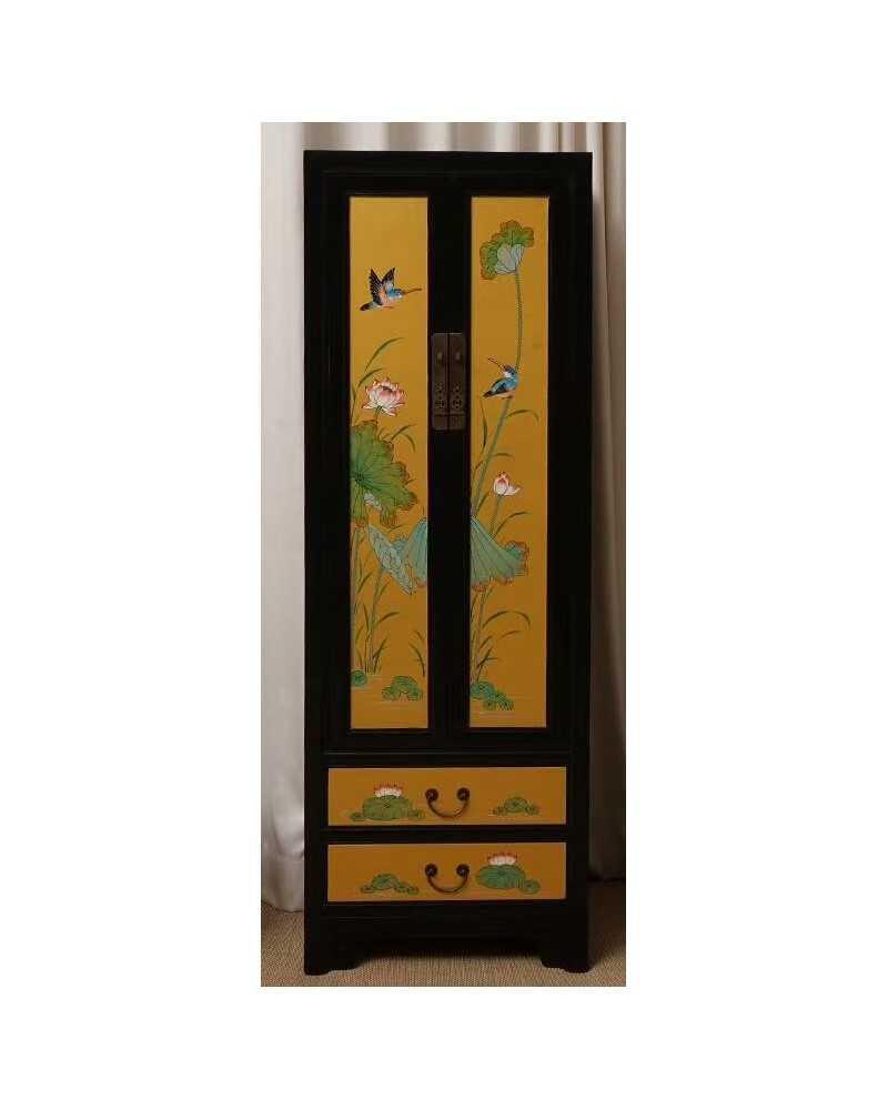 Bahut chinois de cuisine en bois ancien for Bahut japonais