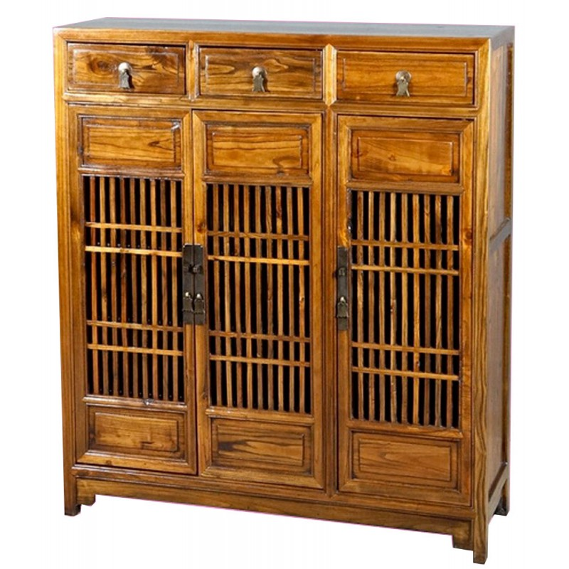 bahut chinois de cuisine en bois ancien. Black Bedroom Furniture Sets. Home Design Ideas