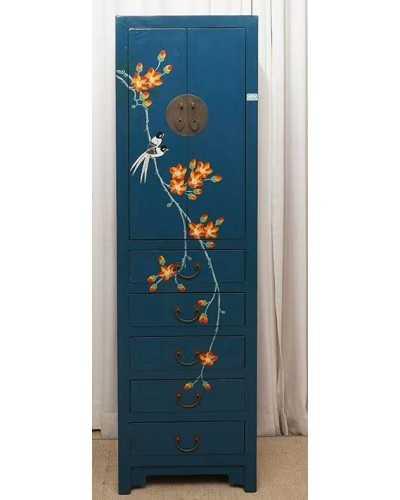 Bahut chinois 8 tiroirs 4 portes jaune