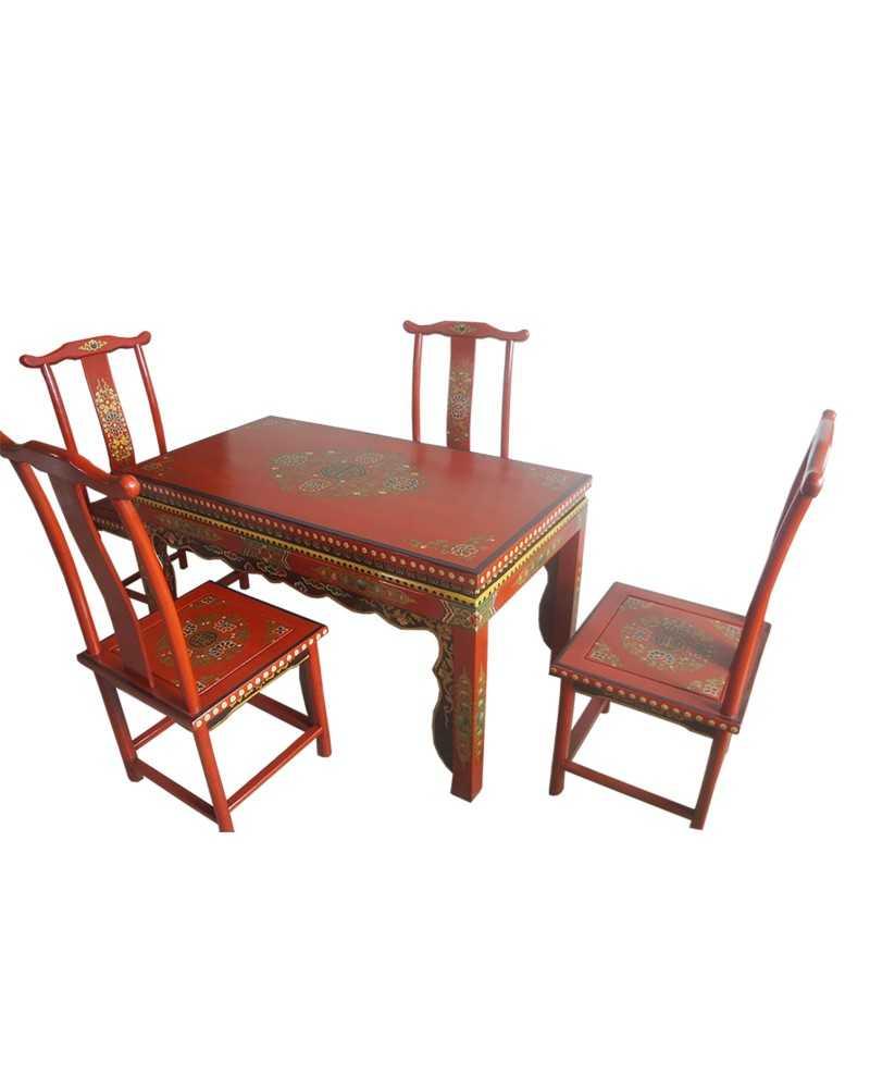 Bahut chinois 4 portes 8 tiroirs noir
