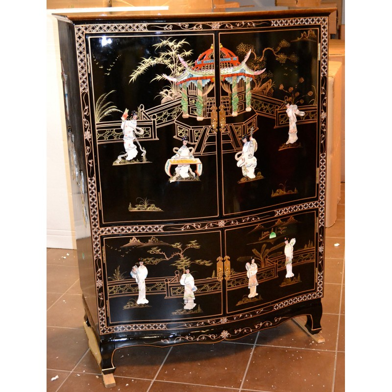meuble tv chinois laqu meuble chinois laqu. Black Bedroom Furniture Sets. Home Design Ideas