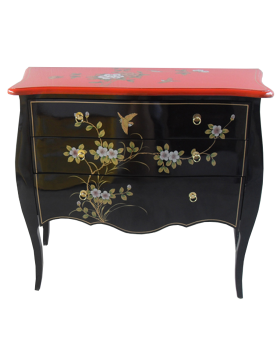 Commode chinoise laquée bicolor
