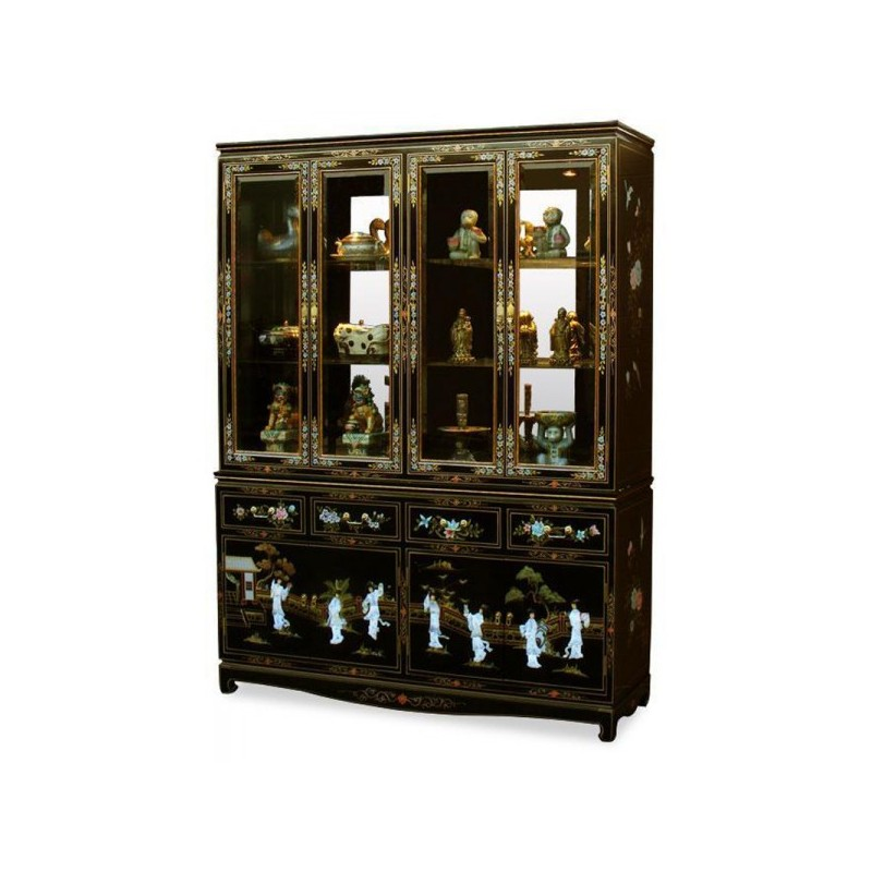 vaisselier chinois laqu meuble chinois laqu. Black Bedroom Furniture Sets. Home Design Ideas