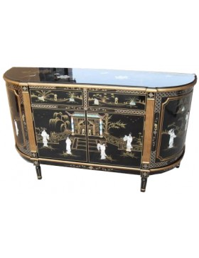Buffet laqué de Chine formes arrondies