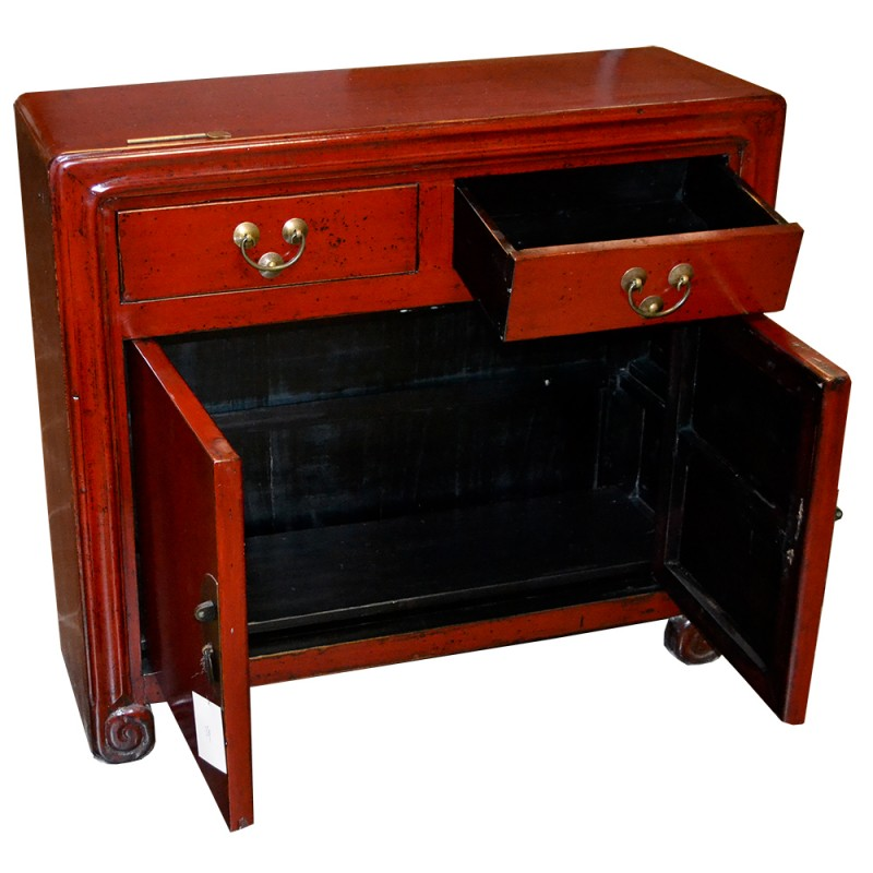 Buffet chinois 2 portes 2 tiroirs for Meuble buffet chinois