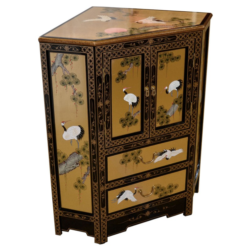 meuble d 39 angle laqu chinois meuble chinois laqu. Black Bedroom Furniture Sets. Home Design Ideas