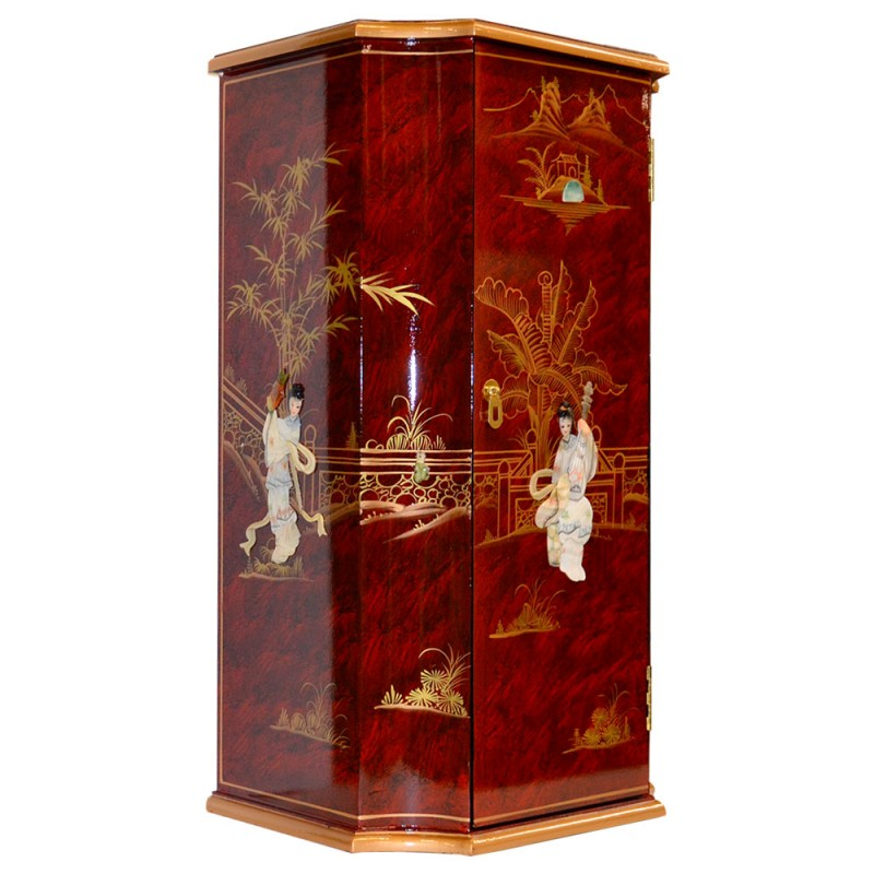 Meuble chinois d 39 appoint laqu for Meuble chinois laque