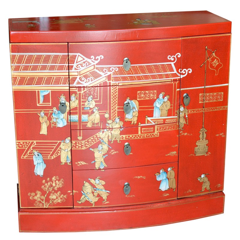 Commodes chinoises cuir for Meuble cuir