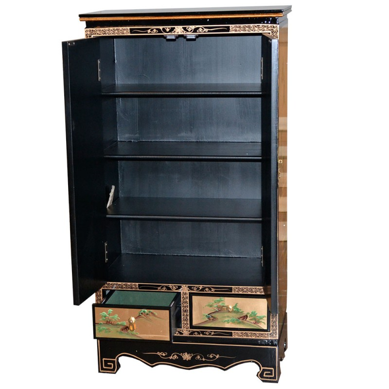 Armoire laqu e chinoise meuble chinois laqu for Meuble chinois laque