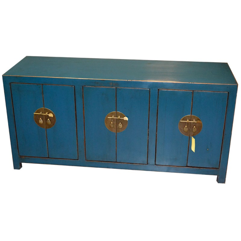 buffet chinois imp rial bleu. Black Bedroom Furniture Sets. Home Design Ideas