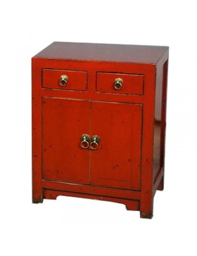 Meuble d'appoint chinois rouge
