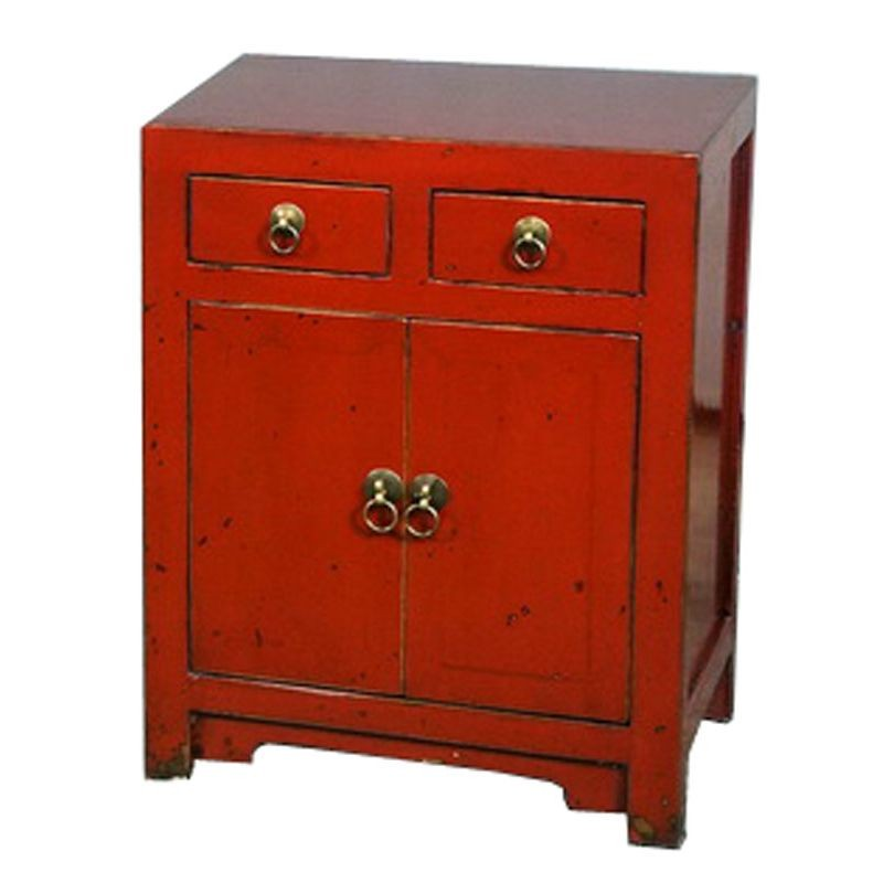 meuble d 39 appoint chinois rouge. Black Bedroom Furniture Sets. Home Design Ideas