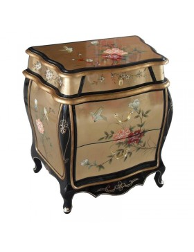 Commode chinoise galbée laquée