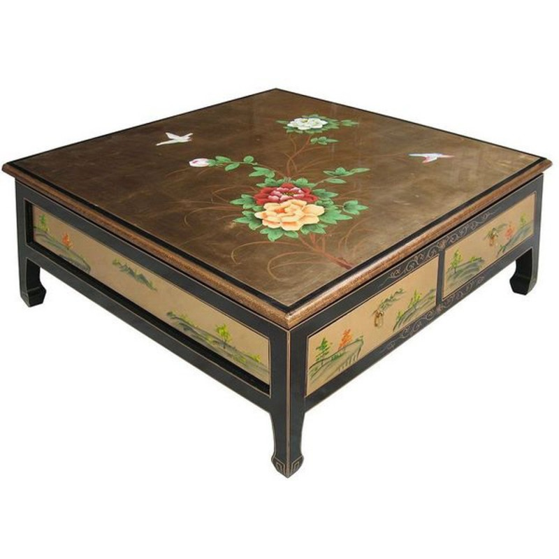 Table basse japonaise ancienne for Table de salon ancienne