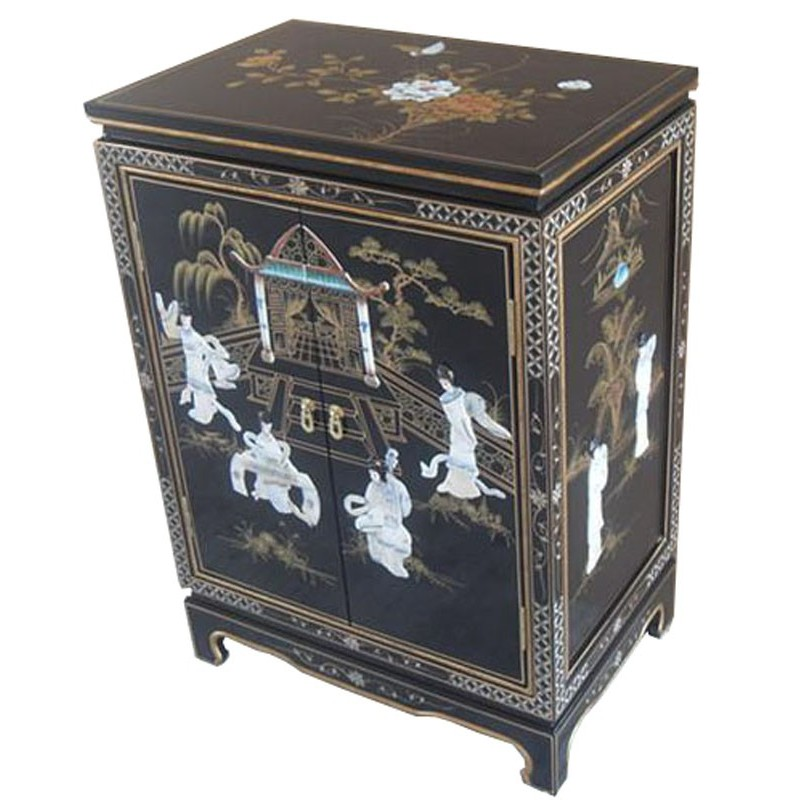 Meubles d 39 entr e chinois laqu s for Buffet meuble chinois