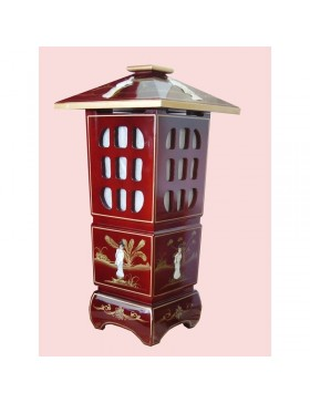 Lampe chinoise pagode rouge