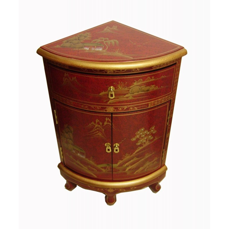 Meuble D Angle Rouge Meuble Chinois
