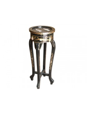 Console chinoise laquée ronde 91 cm