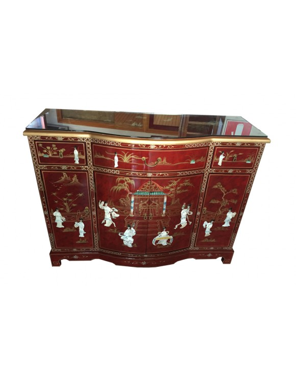 Buffet de chine laqu meuble chinois laqu for Meuble chinois laque