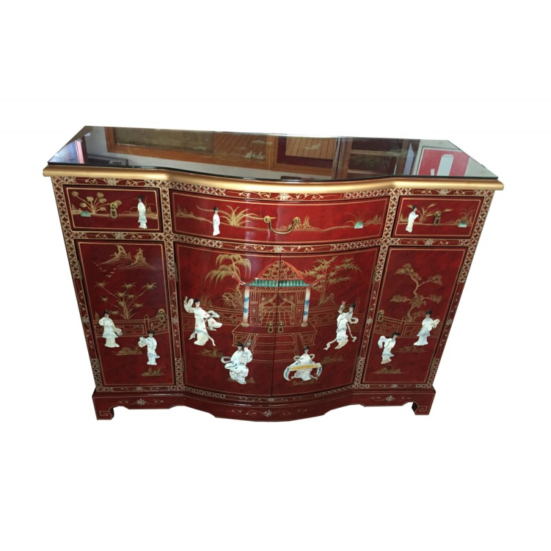 buffet de chine laqu meuble chinois laqu. Black Bedroom Furniture Sets. Home Design Ideas