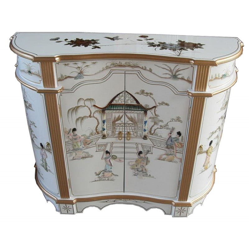 Buffet chinois laqu more dor meuble chinois laqu for Buffet meuble chinois