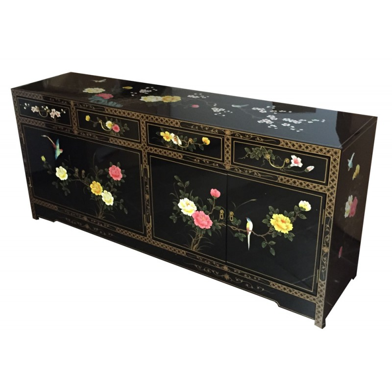 buffet chinois laqu noir d cor meuble chinois laqu. Black Bedroom Furniture Sets. Home Design Ideas