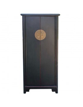 armoire chinoise noire 2 portes. Black Bedroom Furniture Sets. Home Design Ideas