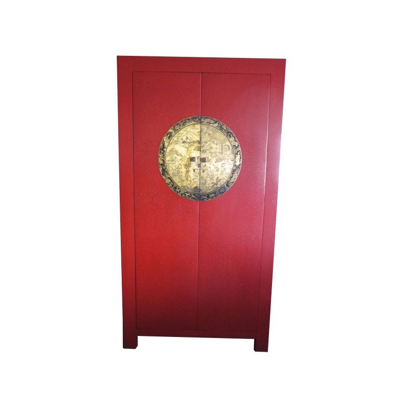 Armoire Chinoise Rouge H190cm Mobilierdasiecom