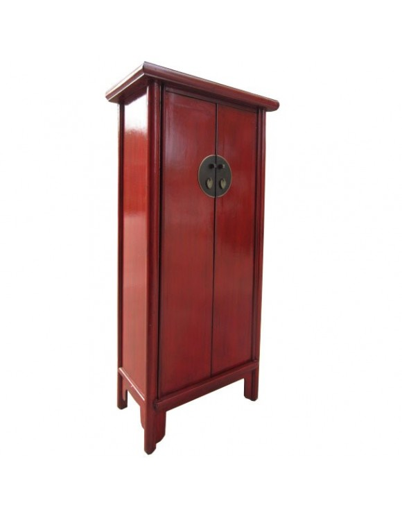 armoire chinoise rouge h155cm. Black Bedroom Furniture Sets. Home Design Ideas