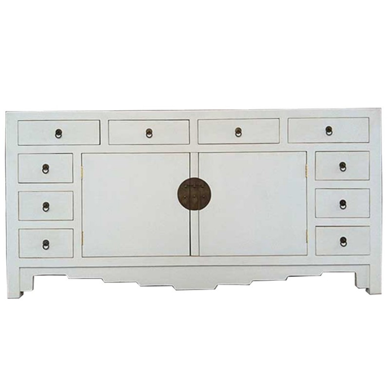 buffet chinois blanc 10 tiroirs. Black Bedroom Furniture Sets. Home Design Ideas