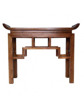 Console chinoise temple brune