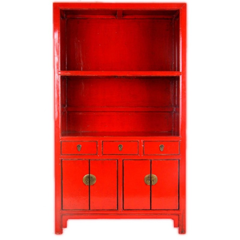 etag re chinoise biblioth que rouge. Black Bedroom Furniture Sets. Home Design Ideas